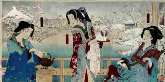 Tsukioka YOSHITOSHI: The courtesan 'Lady Phantom'