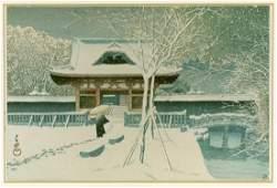 Kawase Hasui: Snow at Shiba Park (Shiba Koen no Yuki)