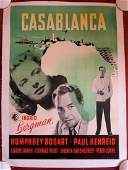 Casablanca - Bogart, Bergman (1946) Danish Movie Poster