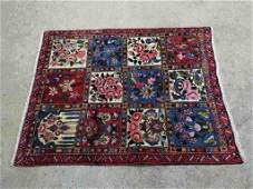 Hand Knotted Persian Sarouk Rug 5.2x3.5 ft