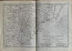 Southern Brazil and Uruguay. By Bonne/ Raynal. 1780