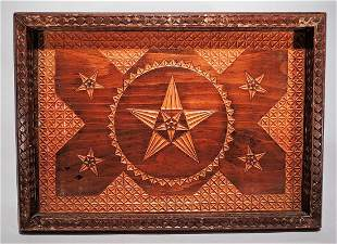 Geometrical Patterns Carved Tray