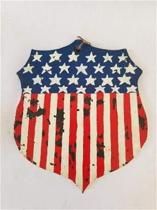 Iron shield, found in PA