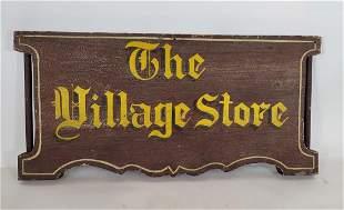 Village store wooden sign ca 1960's