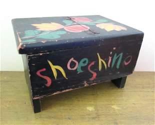 EARLY SHOESHINE BOX