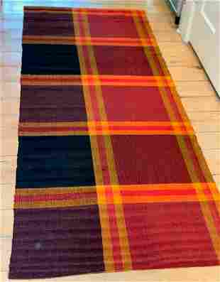 Spectacular early Rag Carpet, c. 1900