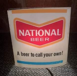 Vintage National Beer Lighted Display Sign
