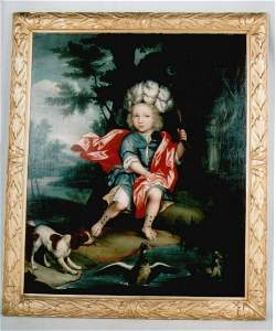 An oil on canvas painting of Sir Thomas Pope-Blount as