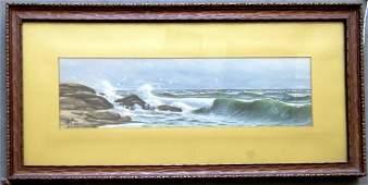 Charles Grant Davidson, NY 1865-1945. W/C Seascape