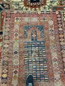 Handmade antique Caucasian Shirvan prayer rug 3.4' x