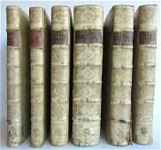 1687-1703 5 FOLIO VOLUMES antique VELLUM BOUND LAPIDE