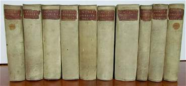1698-1710 10 VOLUMES HISTORY of LAW VELLUM BOUND by
