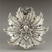 Indonesian sterling silver fruit plate