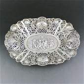 19th Century German Rococo Embossed Sterling Silver