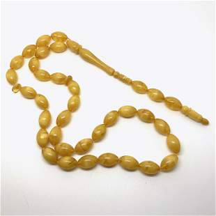 Beautiful Amber Tesbih made from Olive shaped Amber