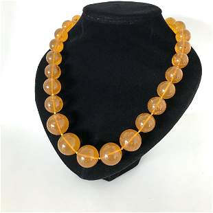 Marvellous Vintage Amber Necklace made from Round Amber