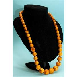 84 g. natural pressed Baltic amber necklace german