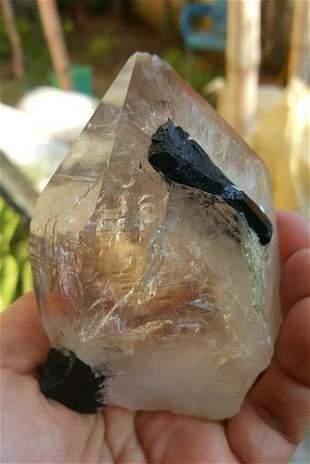 Quartz Crystal Combined With Black Tourmaline - 395.3