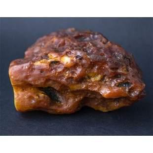 210 g. Vintage 100% natural Baltic amber raw (rough)