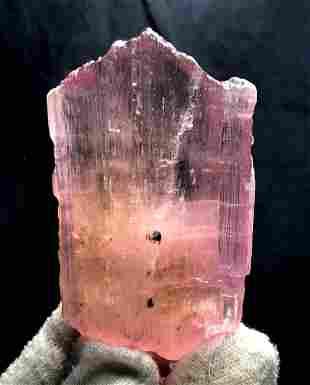 Deep Pink Kunzite Spodumene Crystal Natural V-Shape