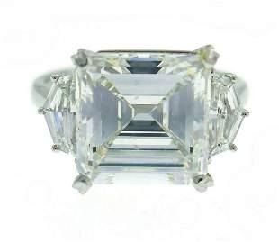 Sophia D Diamond Platinum Ring 5.08 Carat Square