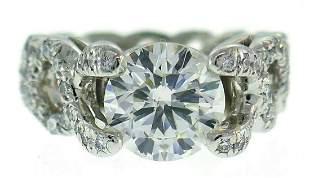 Verdura Diamond Platinum Criss Cross RING 2.05-carat