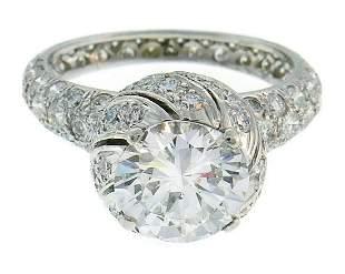 Tiffany & Co Schlumberger Diamond Platinum Buds RING