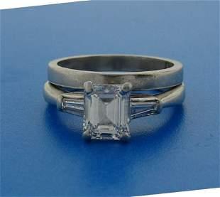 1.02 ct EMERALD CUT DIAMOND H, IF GIA PLATINUM