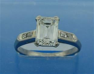 Chic 1.11-ct DIAMOND (H VS1) ART DECO PLATINUM SETTING