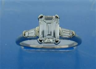 0.98-ct DIAMOND PLATINUM RING F VVS2 GIA - Her Answer