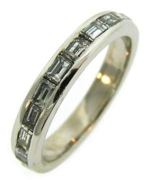 Diamond Platinum Eternity BAND Ring Size 6.25 1960s