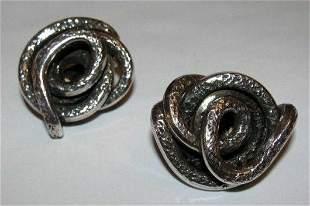 Sterling Silver Spiral Earrings