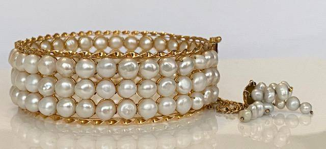 18 kt. Freshwater pearls, Yellow gold, 6.00mm -