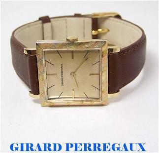 Vintage 14K GIRARD PERREGAUX Mens Winding 17J Watch