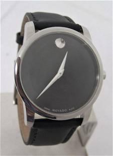 Mens S/Steel MOVADO MUSEUM watch 07.1.14.1142* EXLNT*