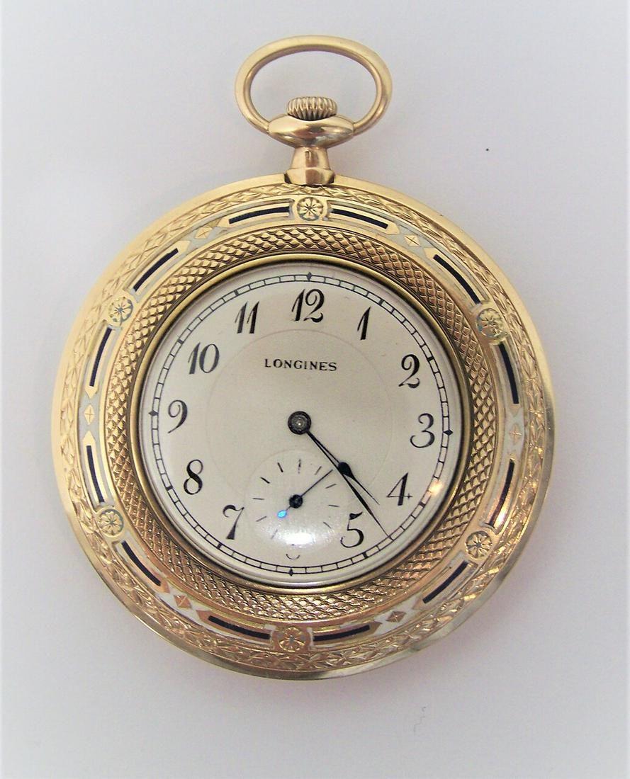 Antique 14k LONGINES Unisex Pocket watch c.1912* 47 mm