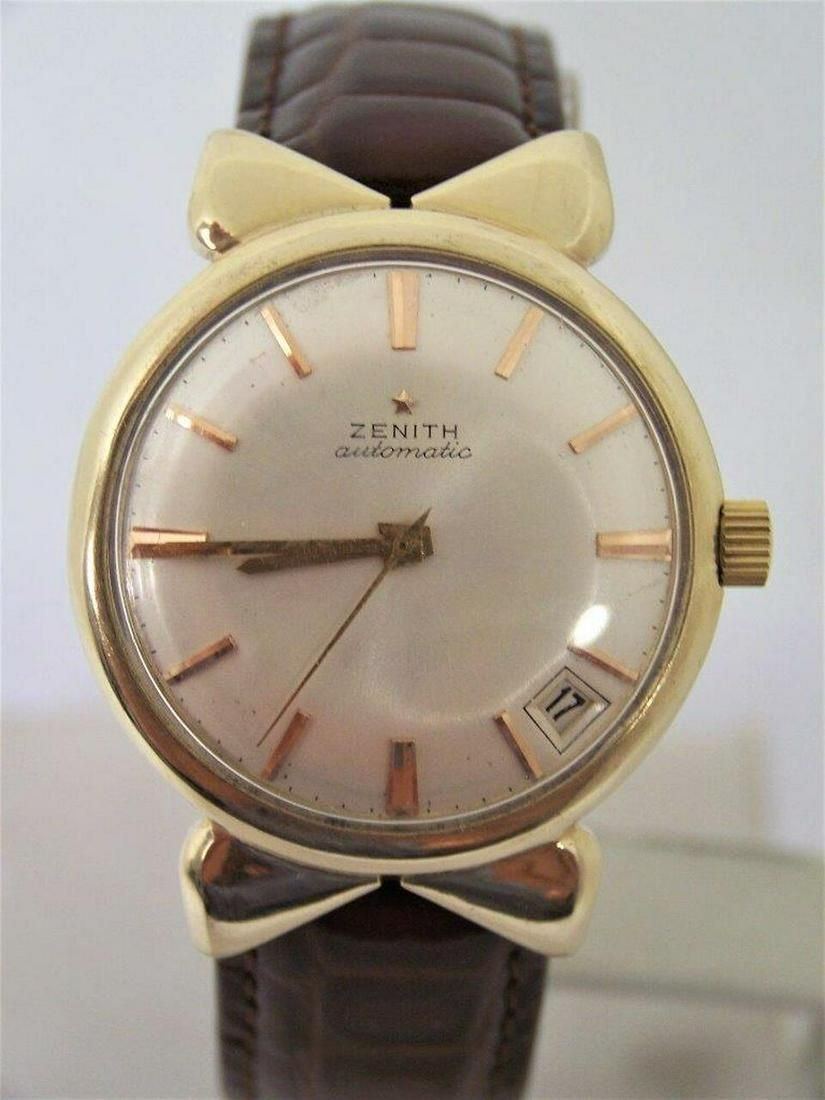 Vintage Solid 14k Gold ZENITH Automatic Watch Cal