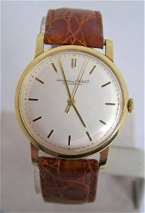 Vintage 18k Gold IWC SHAFFHAUSEN Winding Watch 1960s