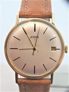 Vintage Slim 18k & S/Steel Juvenia Mens Automatic Watch