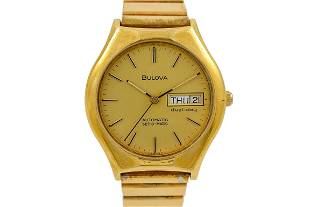 Vintage Bulova Dual Day Set-O-Matic Gold Plated Gents