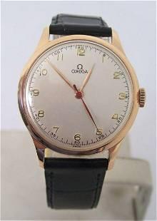 Vintage Solid 14k Rose Gold OMEGA 17J Winding Watch
