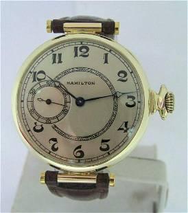 Vintage 14K HAMILTON Pocket Watch Transferred to Wrist