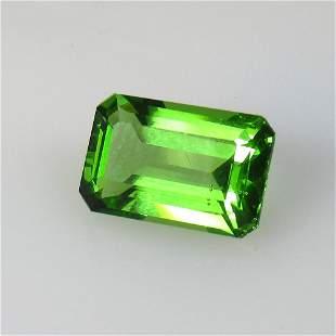 4.90 Ct Natural Green Moldavite Octagon Cut