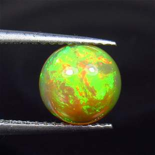 1.19 Ct Natural Ethiopian Multicolor Opal Round Cab