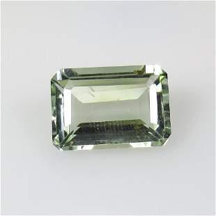 6.35 Ct Natural Green Amethyst Emerald Cut