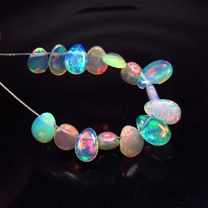 5.10 Ct Natural 15 Drilled Pear Multi-Color Fire Opal