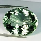 Natural Green Amethyst Oval Cut 30.42 ct