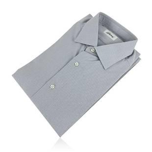 Brioni Light Grey Long Sleeve Men Button Down Shirt