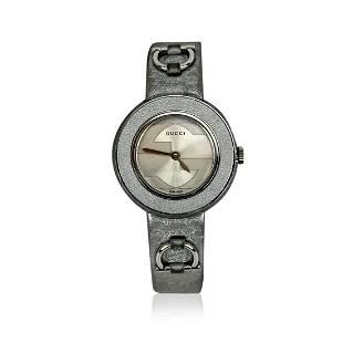 Gucci Silver Stainless Steel 129.5 Wrist Quartz Watch