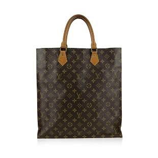 Louis Vuitton Vintage Brown Monogram Canvas Sac Plat GM